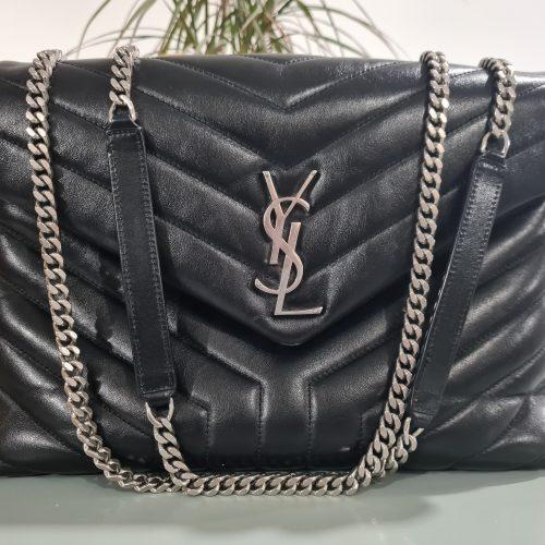 YSL Loulou cuir noir