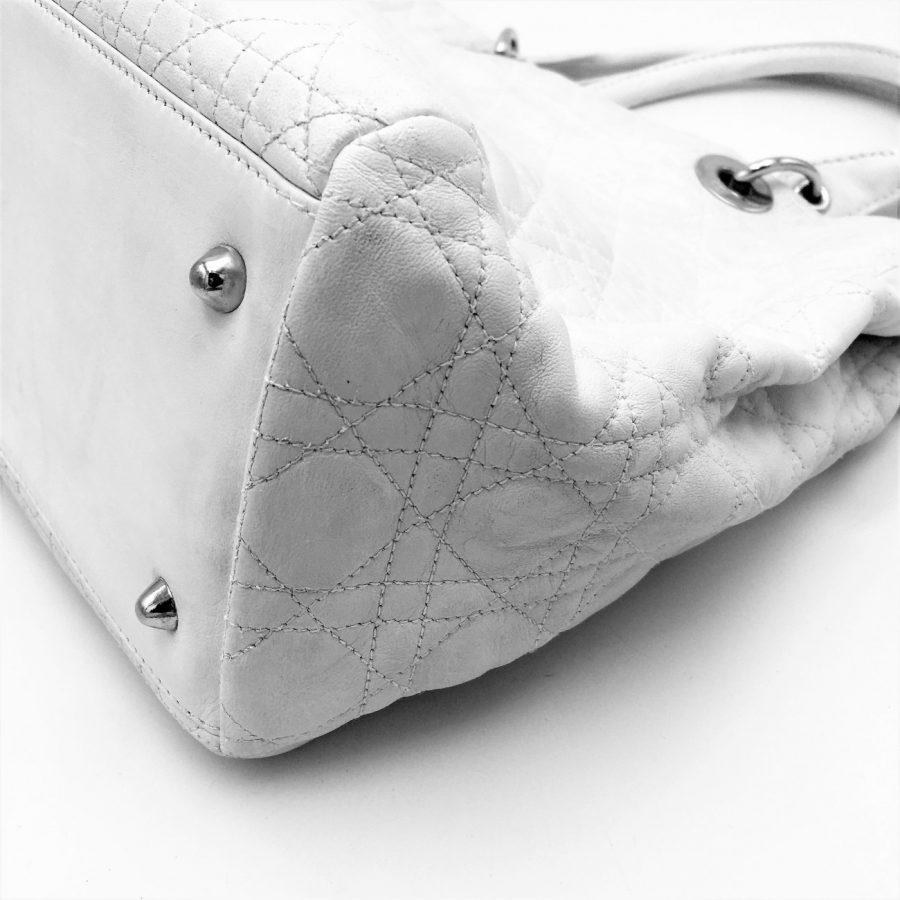 Cabas M Diorissimo soft Cuir blanc occasion très bon état
