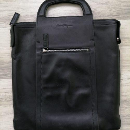 Ferragamo unisex sacoche cuir noir