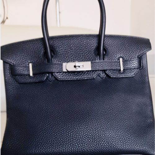 Hermès Birkin 30 cuir Togo noir en excellent état