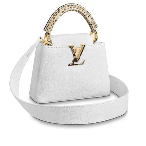 Louis Vuitton Capucines mini cuir blanc. Etat neuf