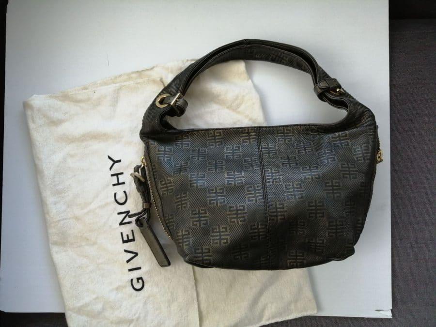 Givenchy cuir noir et bronze