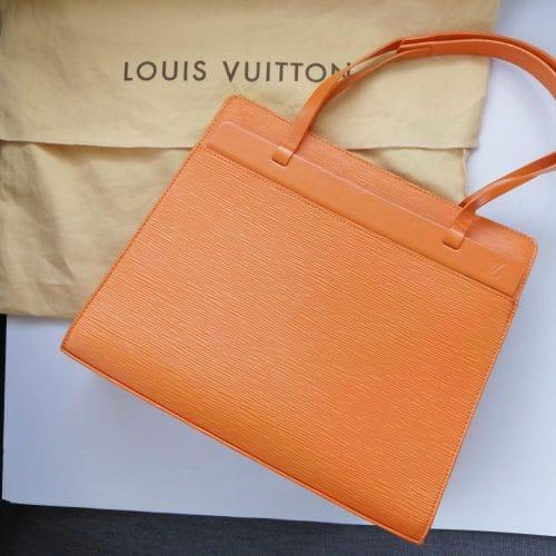 Vuitton cuir Epi orange