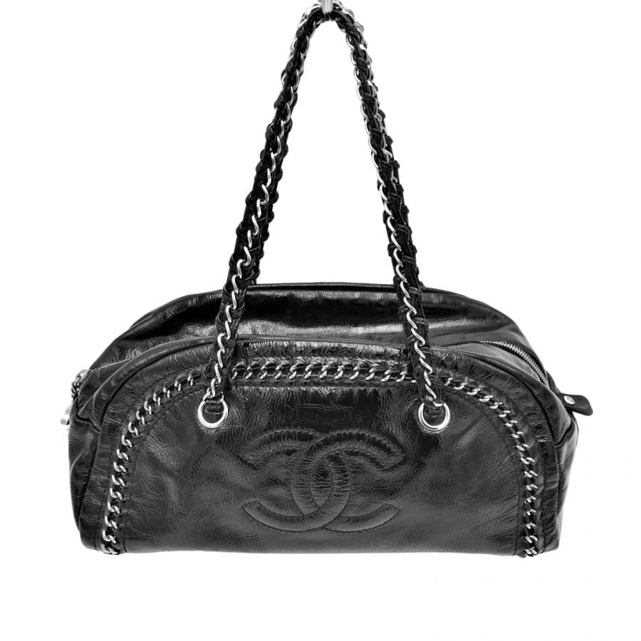 Chanel Just Mademoiselle cuir noir