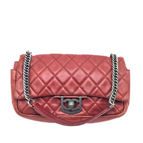 Chanel Timeless Icons cuir rouge