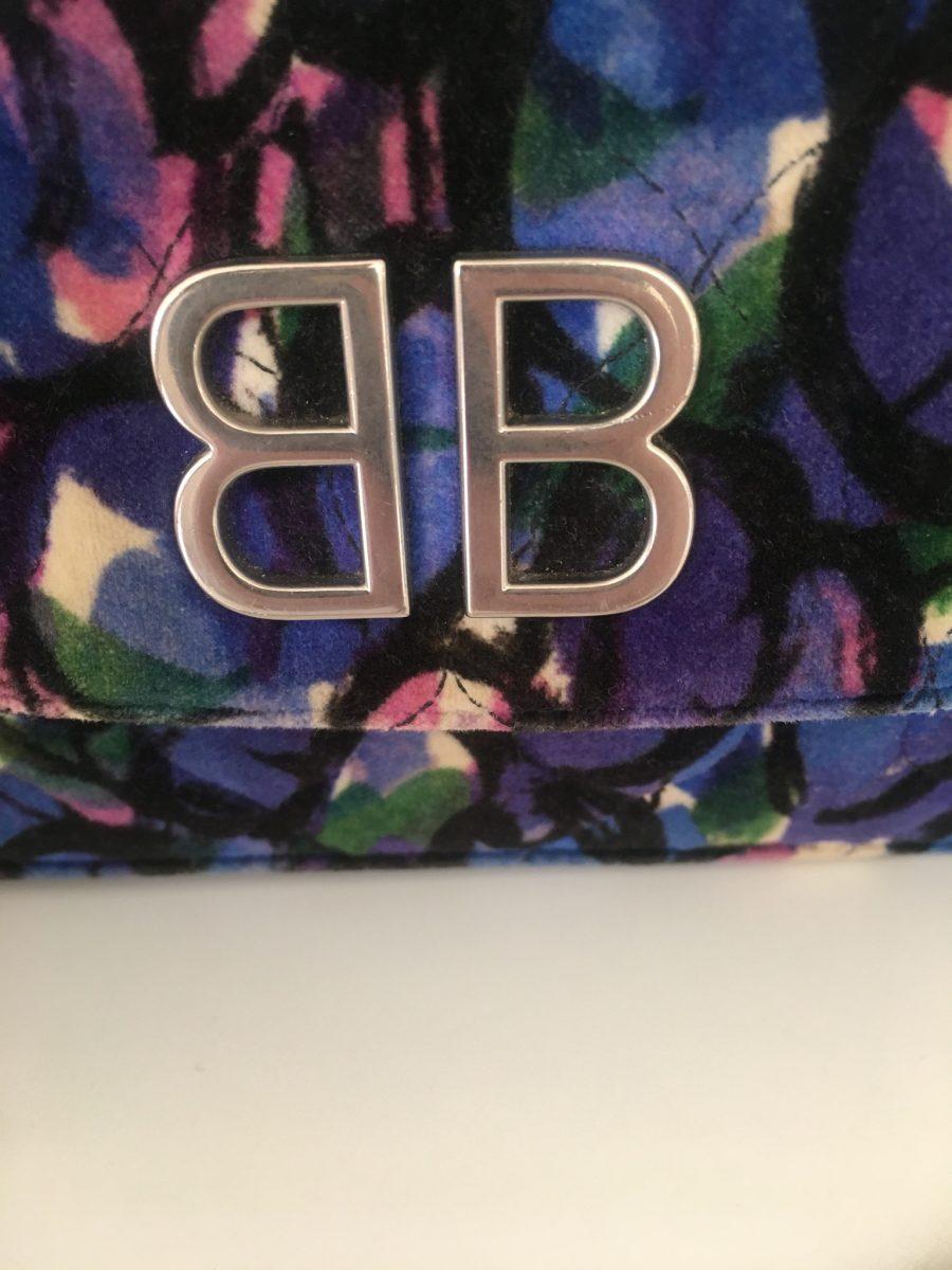 Balenciaga velours multicolore