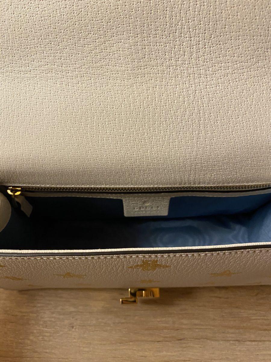 Gucci Sylvie cuir blanc à motifs