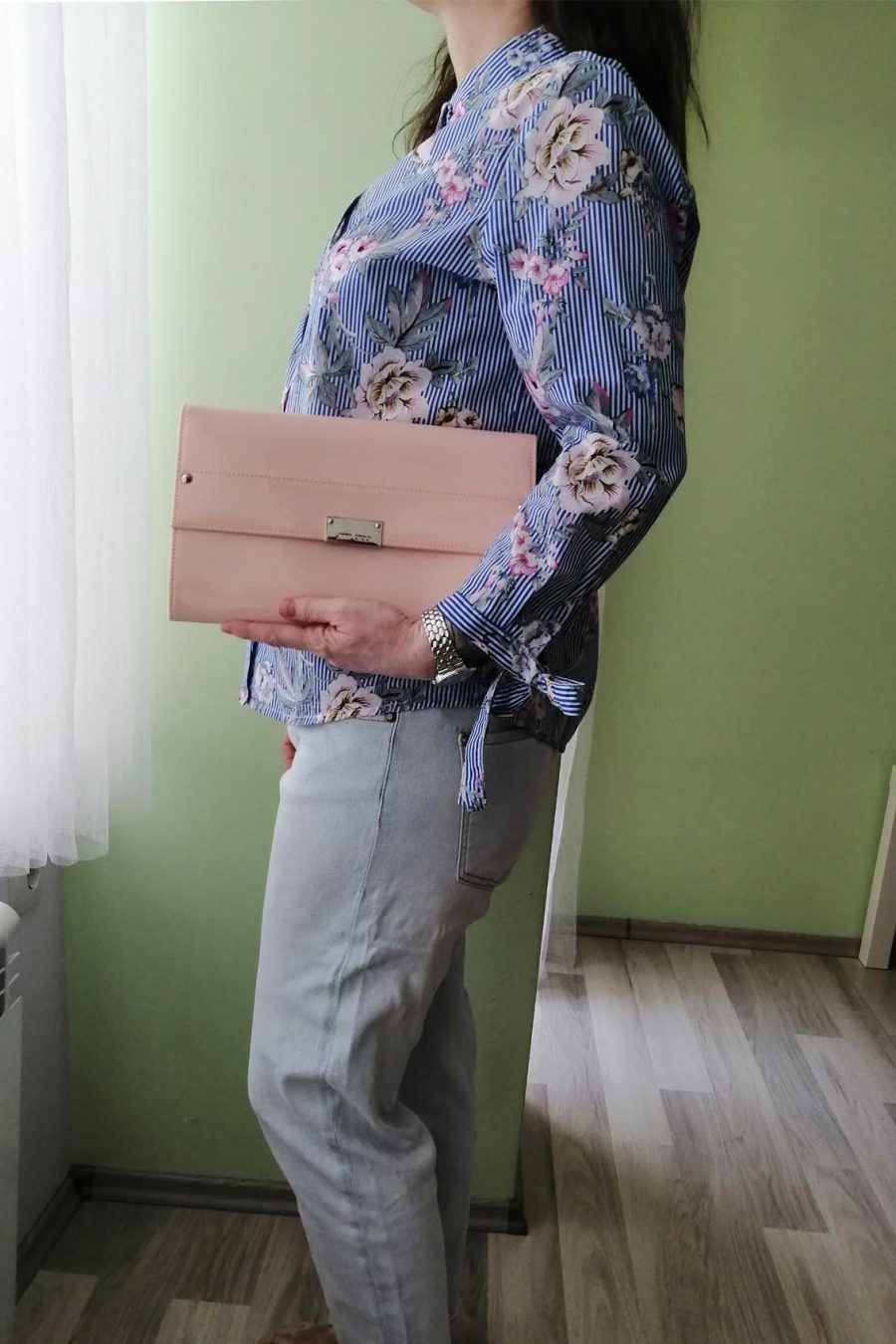 Jimmy Choo clutch rose