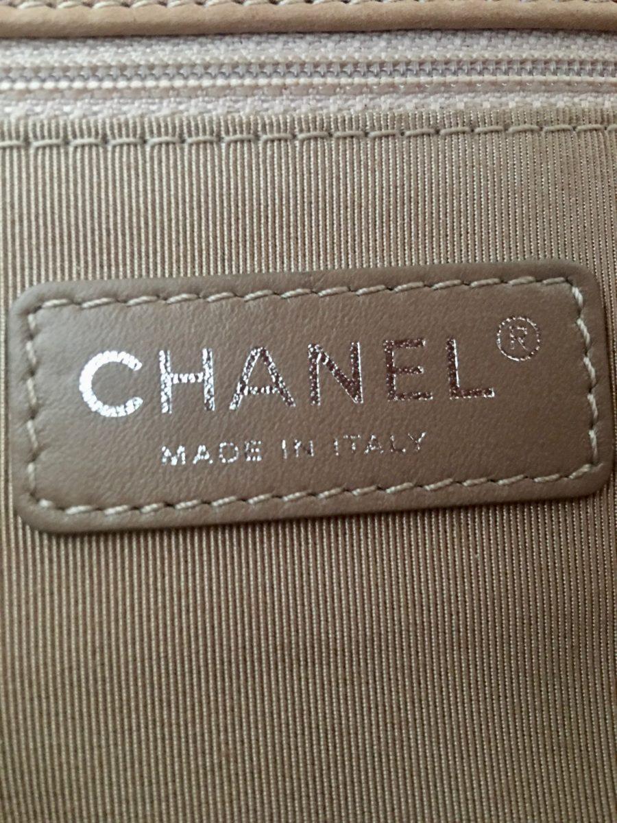 Chanel Bubble Cuir Taupe en excellent état