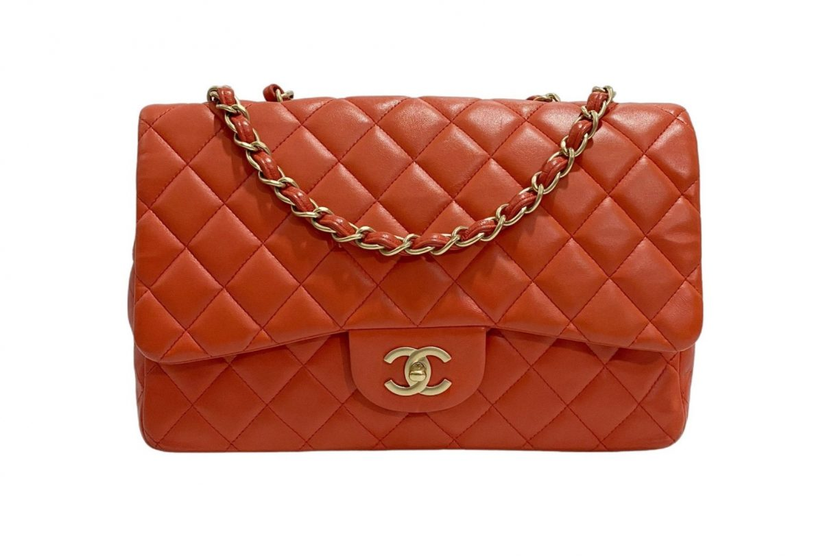 Chanel Timeless cuir rouge